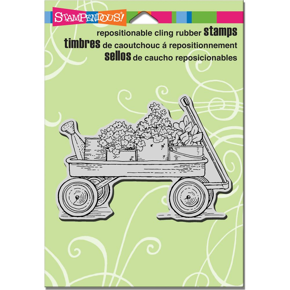 חותמת קלינג - Cling Stamp - Garden Wagon