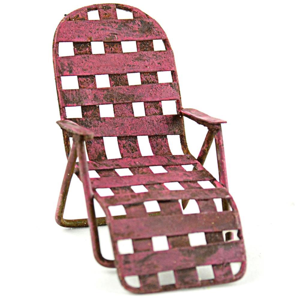 מיניאטורה - Fairy Garden Chaise Lounge Chair