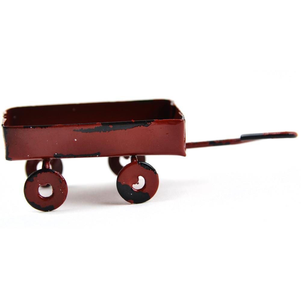 מיניאטורה - Fairy Garden Red Wagon