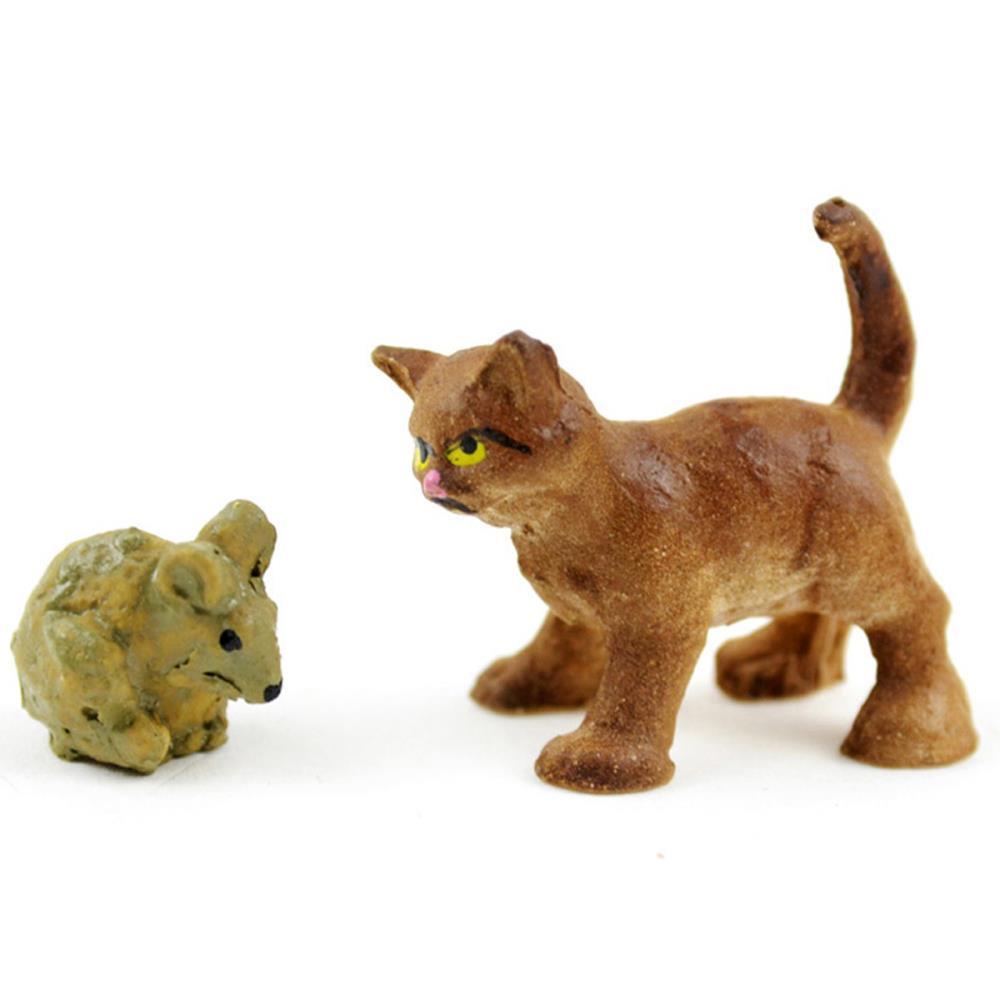 מיניאטורה - Fairy Garden Cat & Mouse