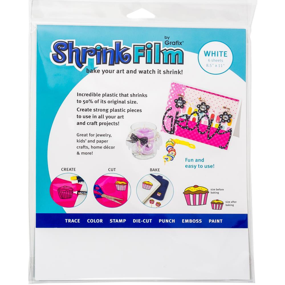 דף שרינקי לבן- Grafix Shrink Film