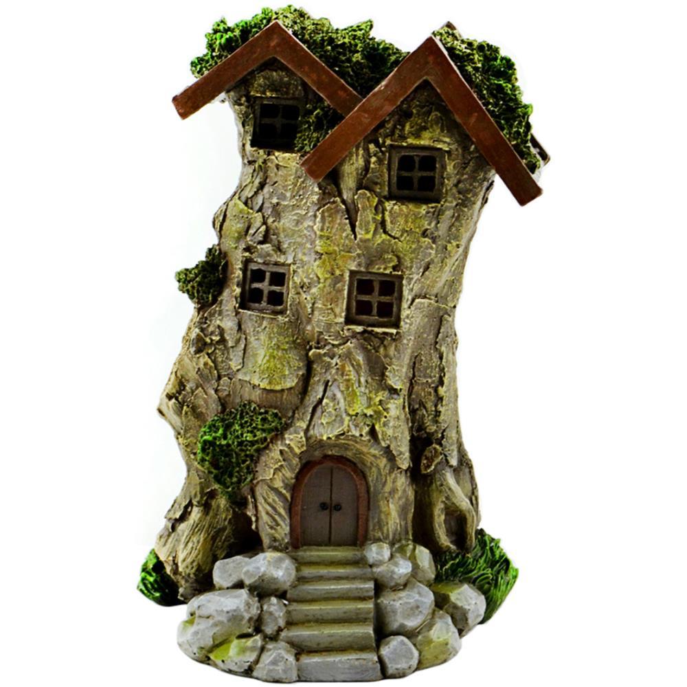 מיניאטורה - Fairy Garden LED Treehouse