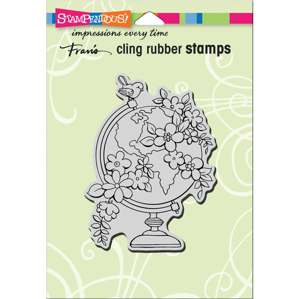 חותמת קלינג - Cling Stamp - Blooming Globe