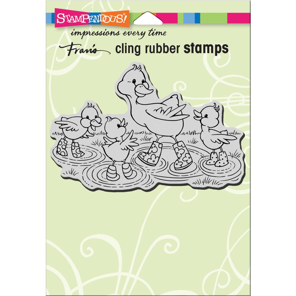 חותמת קלינג - Cling Stamp - Puddle Ducks