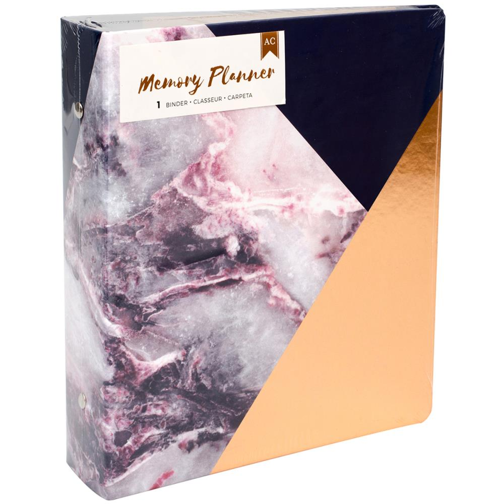 Memory Planner Binder - Marble Crush - Gold Corner
