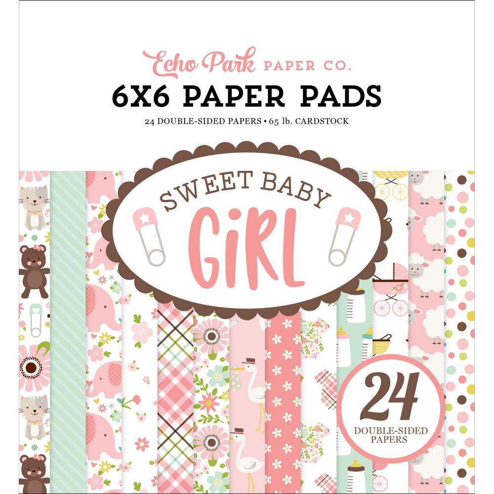"Sweet Baby Girl 6X6"" Paper Pad"