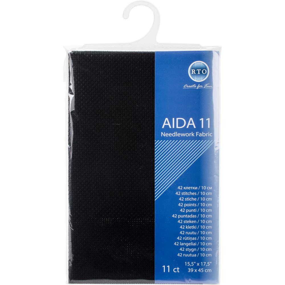 בד לרקמה - Aida 11 Count - Black
