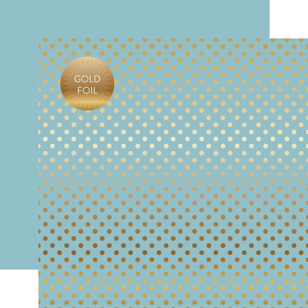 דף קארדסטוק - Foiled Dot - Bluebell Dot