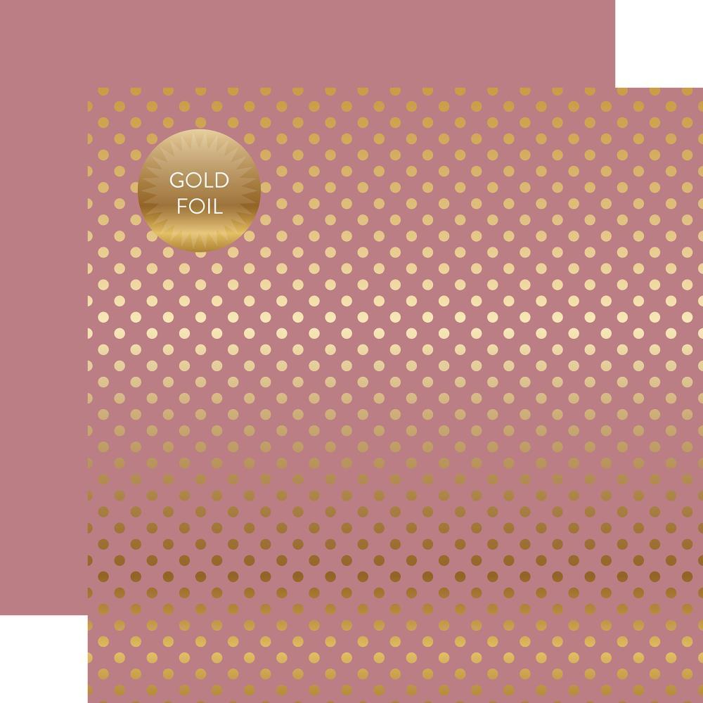 דף קארדסטוק - Foiled Dot - Mauve Dot