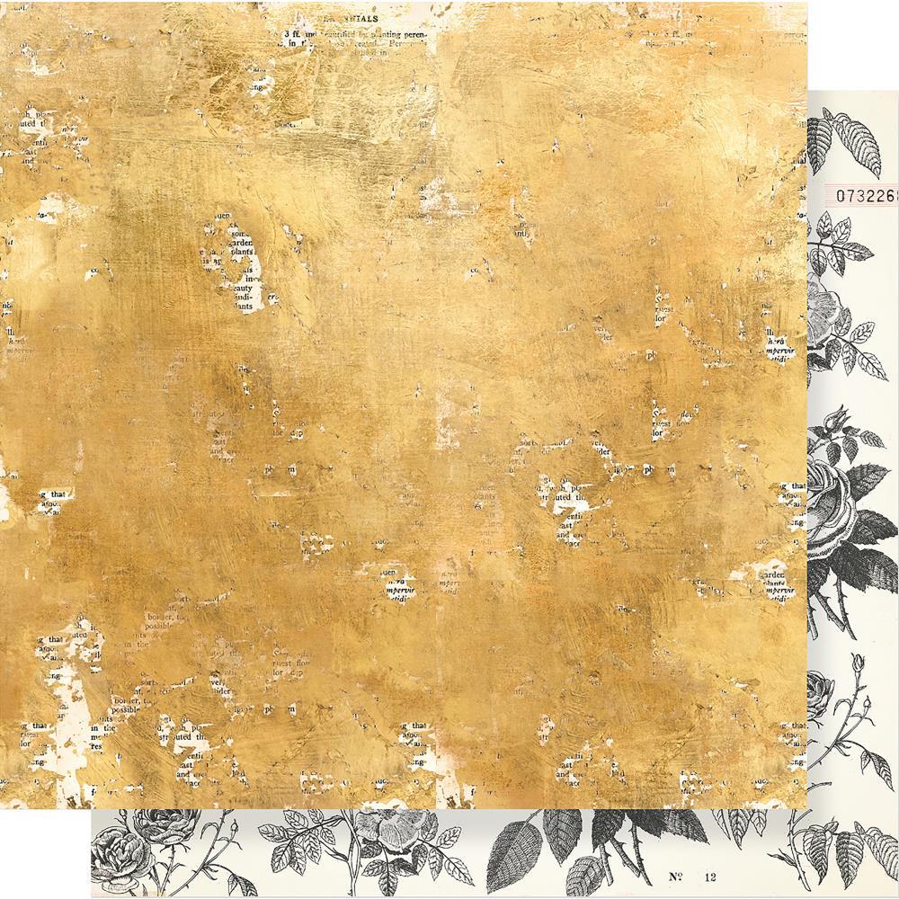 דף קארדסטוק - Flourish - Goldenrod