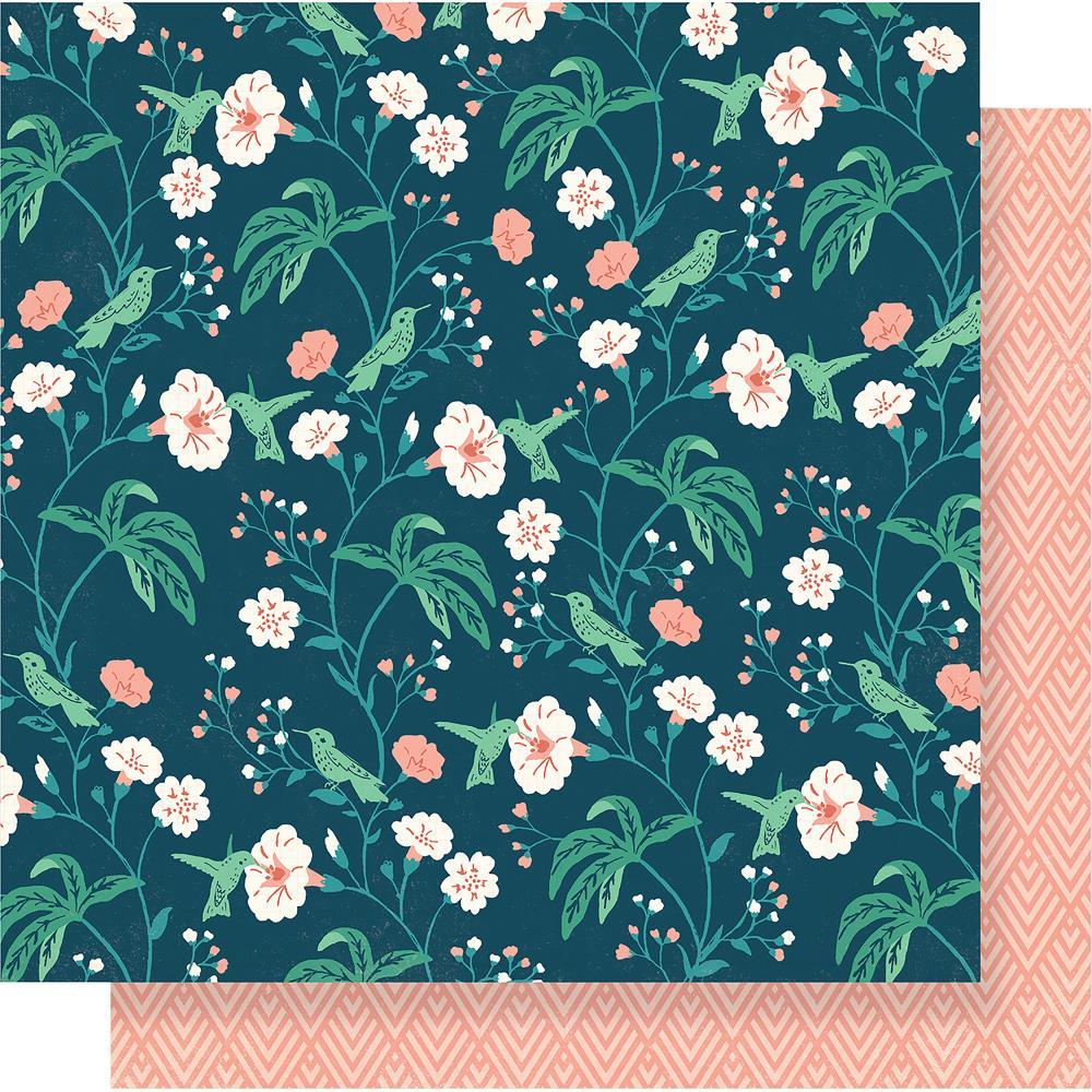 דף קארדסטוק - Flourish - Hummingbird