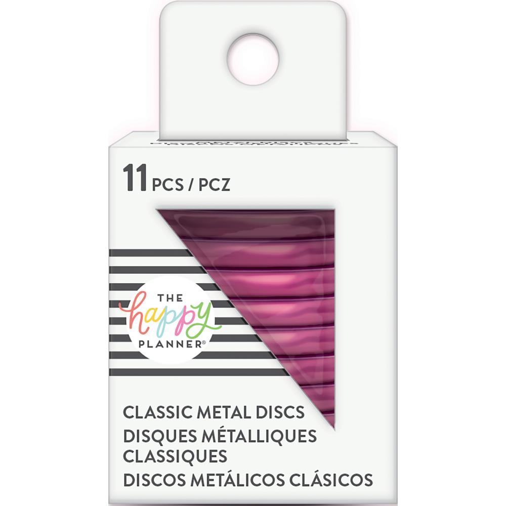 Happy Planner Medium Metal Expander Discs - Hot Pink