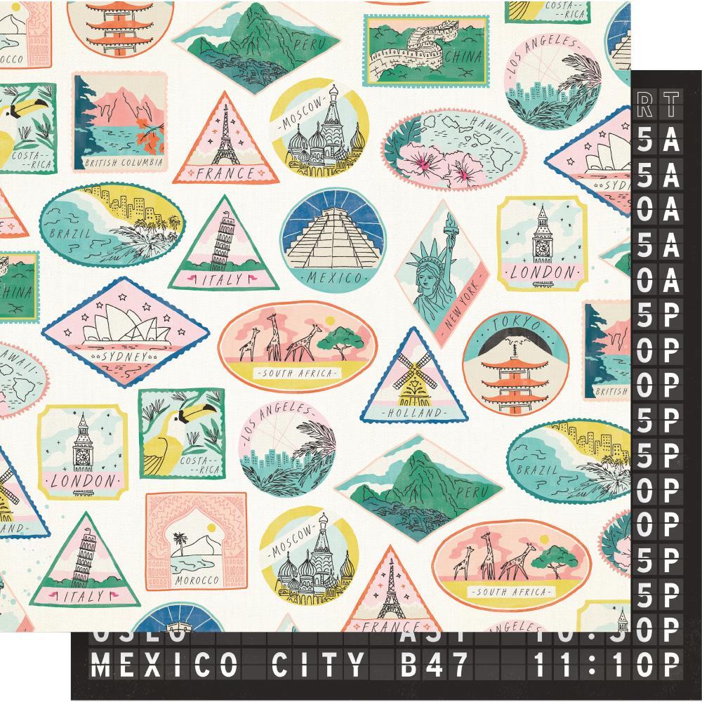 דף קארדסטוק - Here & There - Passport