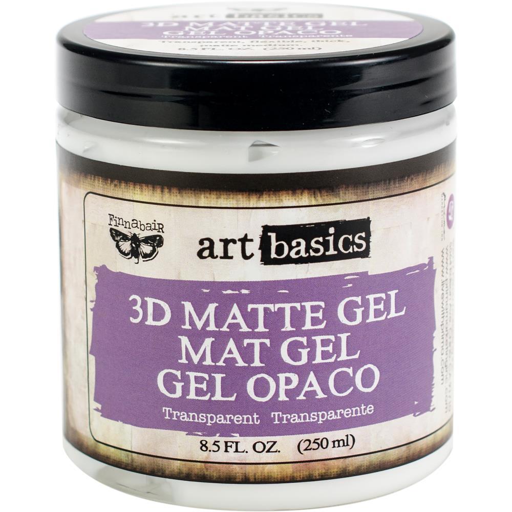 ג'ל מדיום שקוף Art Basics 3D Matte Gel - Transparent