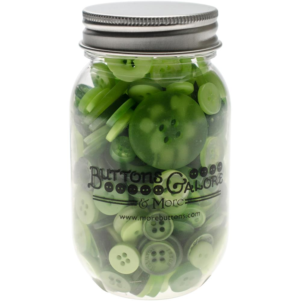 צנצנת כפתורים - Button Mason Jars - Greenery