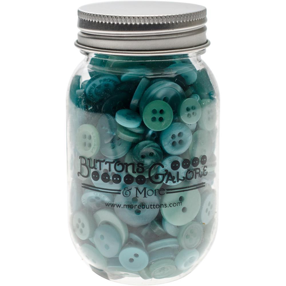 צנצנת כפתורים - Button Mason Jars - Bali Blue