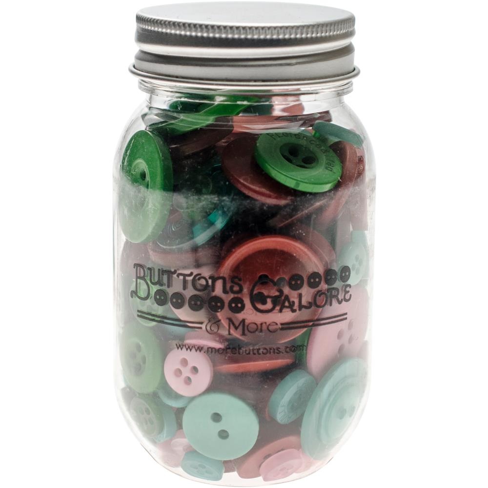 צנצנת כפתורים - Button Mason Jars - Retro Christmas