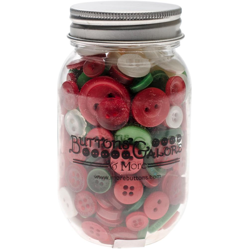 צנצנת כפתורים - Button Mason Jars - Christmas