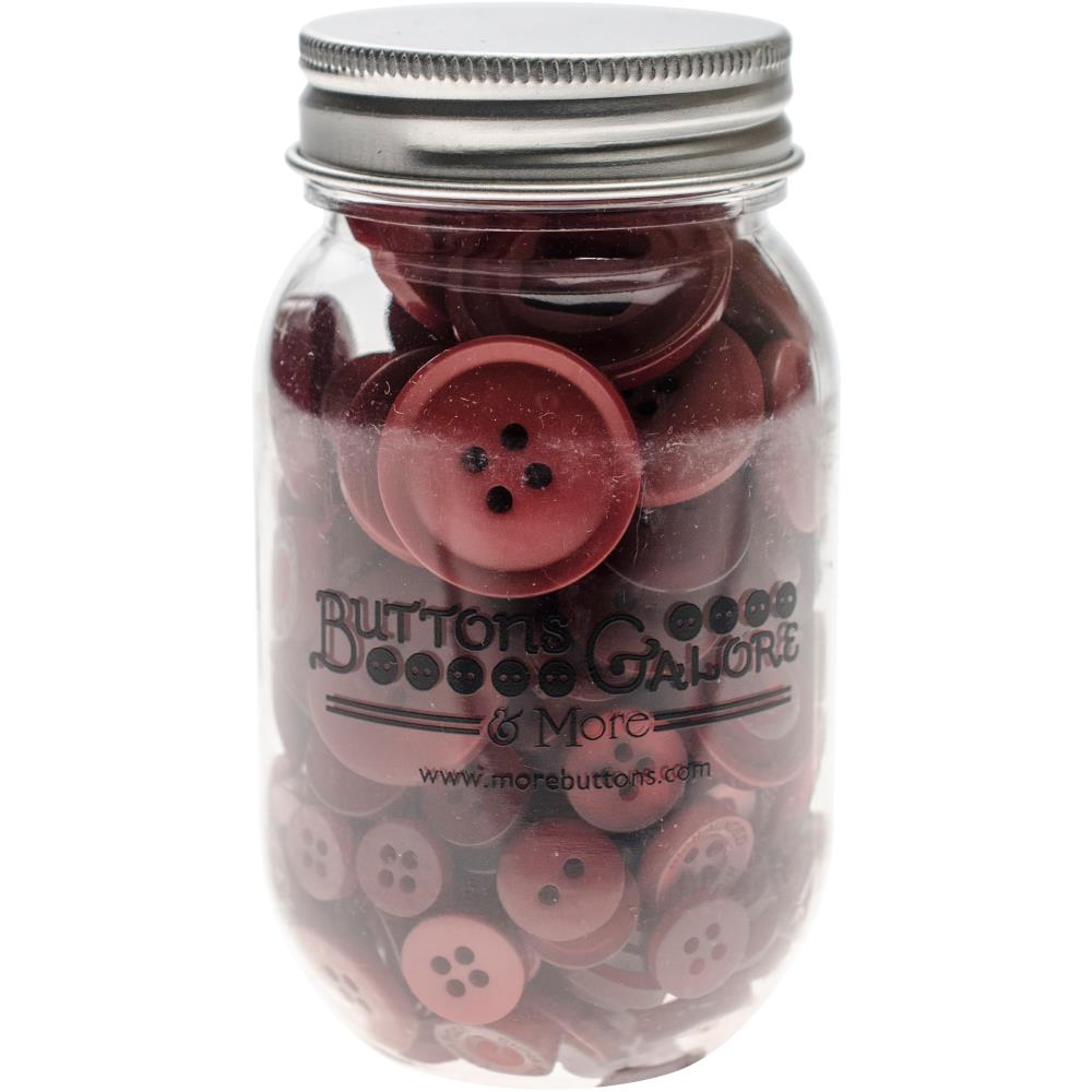 צנצנת כפתורים - Button Mason Jars - Merlot