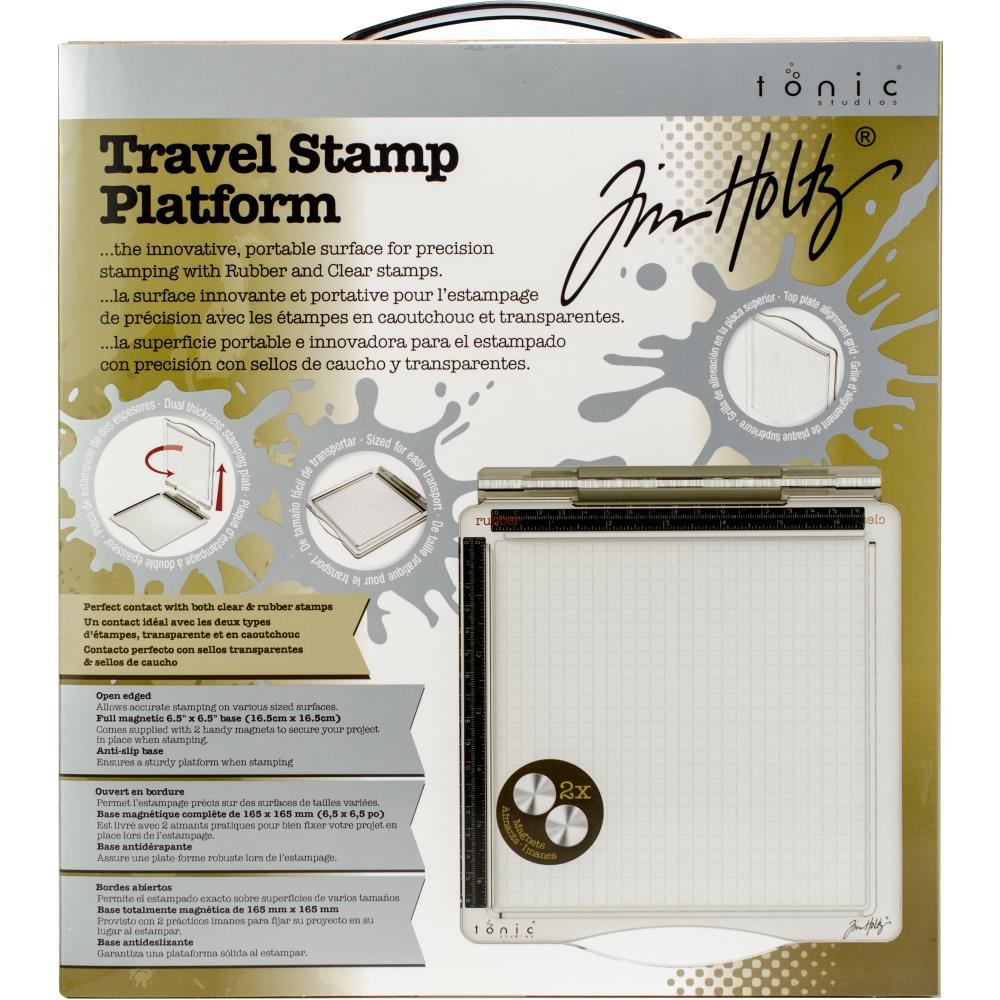 "Tim Holtz Travel Stamp Platform 6.5""X6.5"""