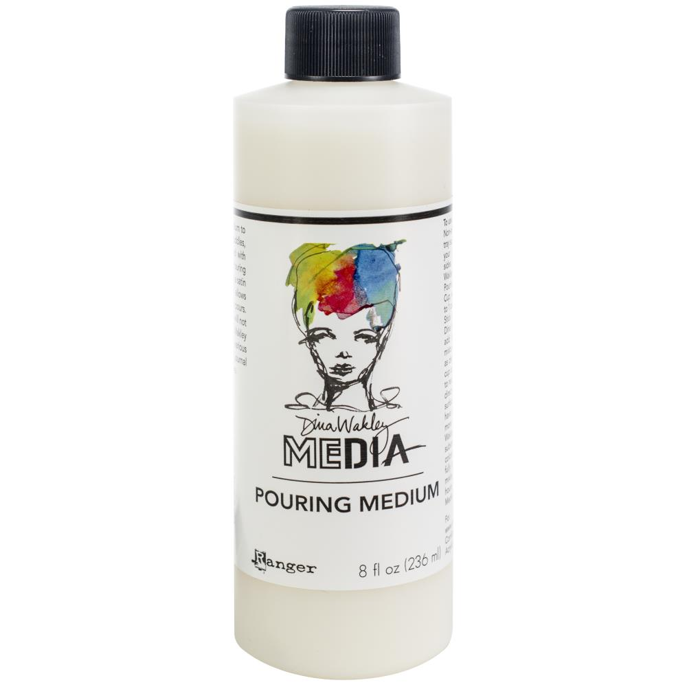 מדיום לצבעים - Dina Wakley Media Pouring Medium 8oz