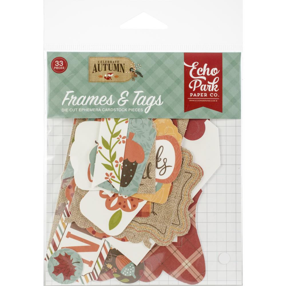 חיתוכי קארדסטוק - Celebrate Autumn Cardstock Die-Cuts - Frames & Tags