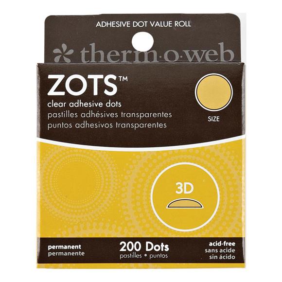 נקודות דבק - Zots Clear Adhesive Dots - 3D