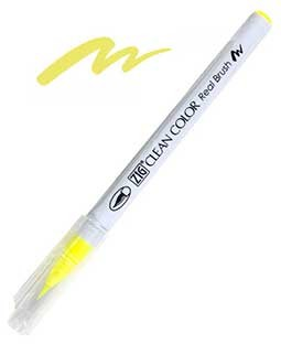 Zig Real Brush - 001 FL. Yellow
