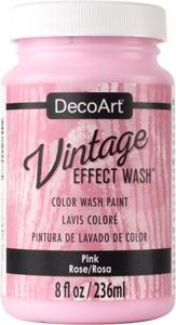 Vintage Effect Wash - Pink