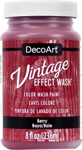 Vintage Effect Wash - Berry
