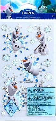 מדבקות נייר - Disney Frozen - Olaf