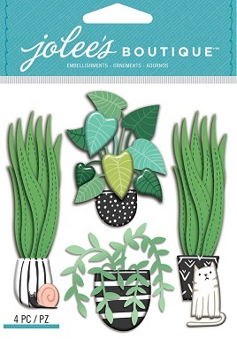 מדבקות תלת ממד - Jolee's Boutique - House Plants