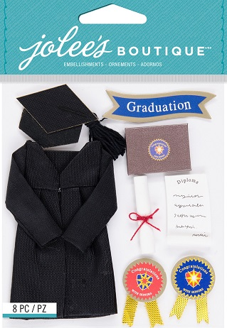 מדבקות תלת ממד - Jolee's Boutique - Graduation