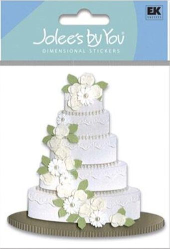 מדבקת תלת מימד - WEDDING CAKE
