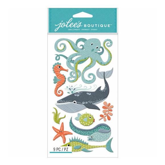 מדבקות תלת מימד - Ocean Animals