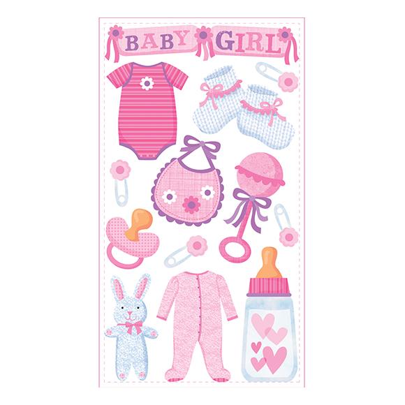 מדבקות תלת מימד - BABY GIRL