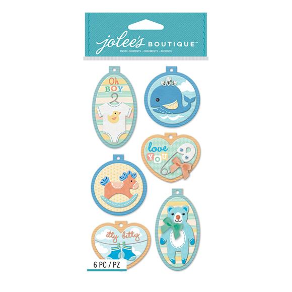 מדבקות תלת מימד Baby Boy - Embroidery Hoops