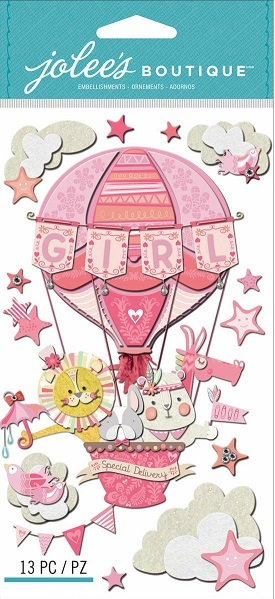 מדבקות תלת ממד - Dimensional Stickers - Baby Girl Special Delivery