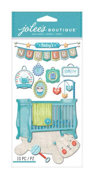 מדבקות תלת מימד - Baby Boy Nursery