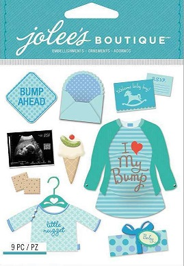 מדבקות תלת ממד - Dimensional Stickers - Baby Boy Pregnancy
