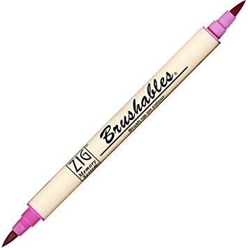 Zig Brushable Marker Pen - 025 Pure Pink