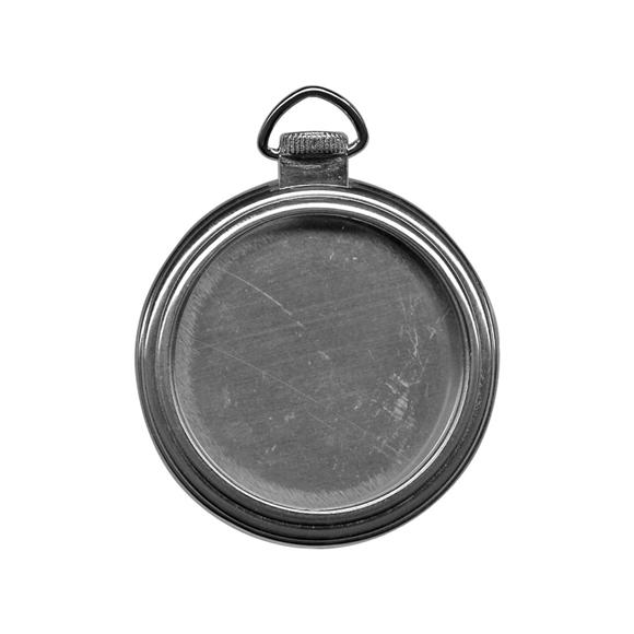 שעון כיס Pocket Watch Frame - Antique Nickel