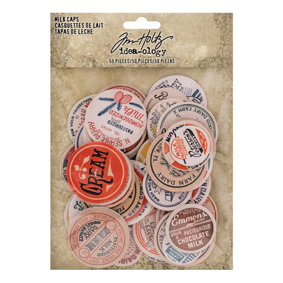 חיתוכי צ'יפבורד - Chipboard Milk Caps Assorted Sizes