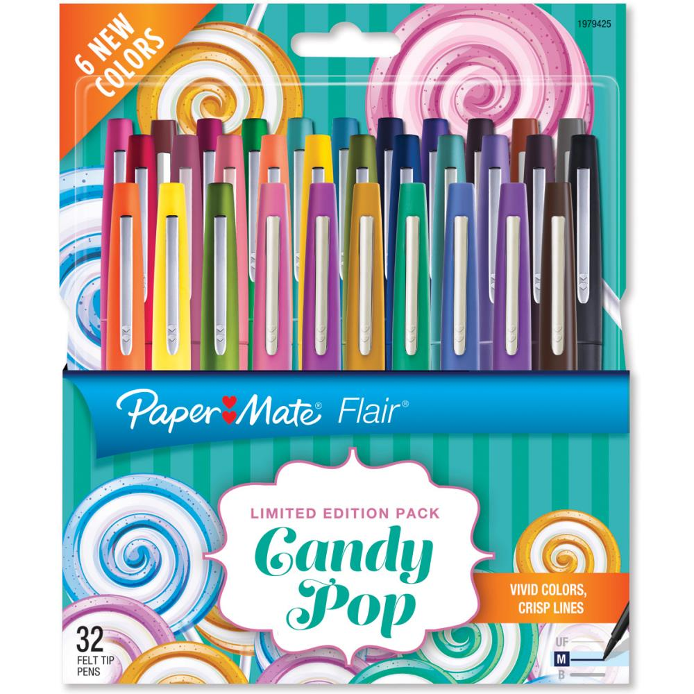 עטים צבעוניים 32 יחידות Candy Pop Flair Medium Felt Tip Pens