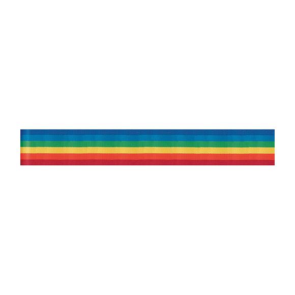 סרט בד Offray Stripe Ribbon - Rainbow