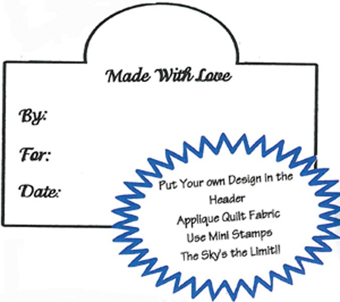 Made With Love -By/For/Date Label Stamp