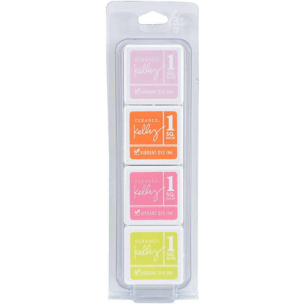 סט 4 כריות דיו - Clearly Kelly Vibrant Dye Ink Cubes - Fashion