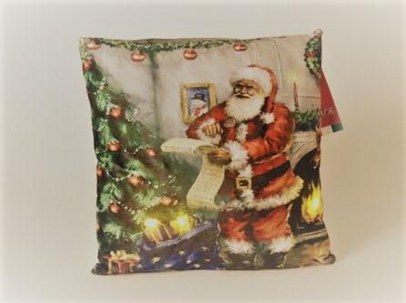 כרית קריסמס עם תאורת לד - סנטה קלאוס