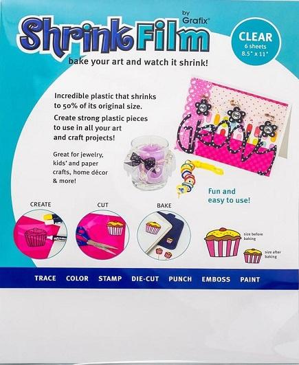 דף שרינקי שקוף - Grafix Shrink Film