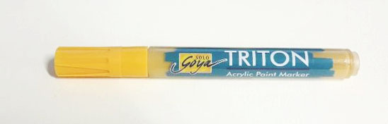 Triton Acrylic Paint Marker 1-4 mm - Light Brilliant Ocher